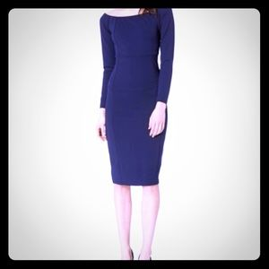 Boat neck Ponte midi sheath dress by Bebe